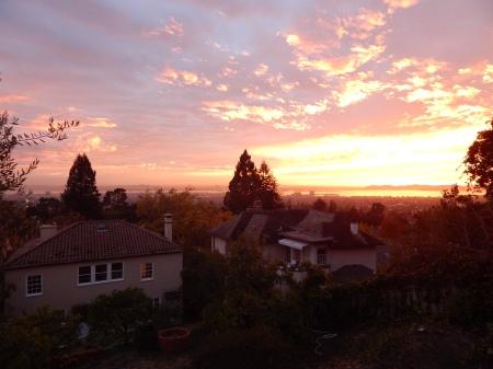 151 A -- sunset from terraced hillside